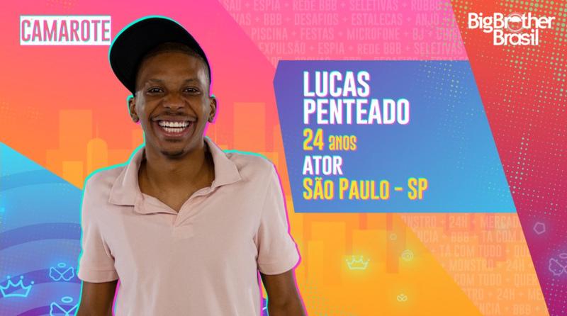 Na foto, aparece Lucas Penteado, um dos participantes do BBB 21.