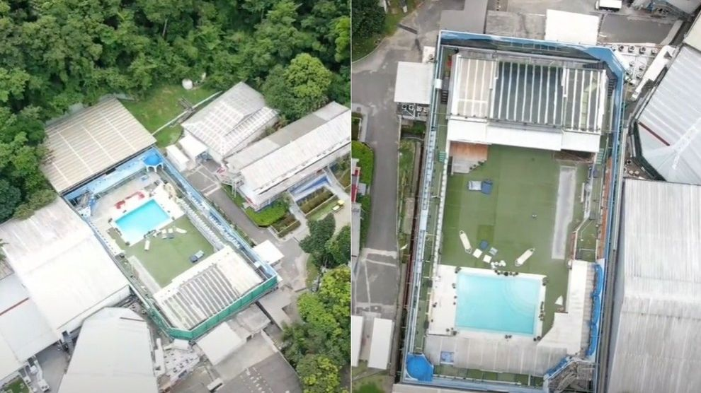 Drone sobrevoa casa do BBB21 - Globo