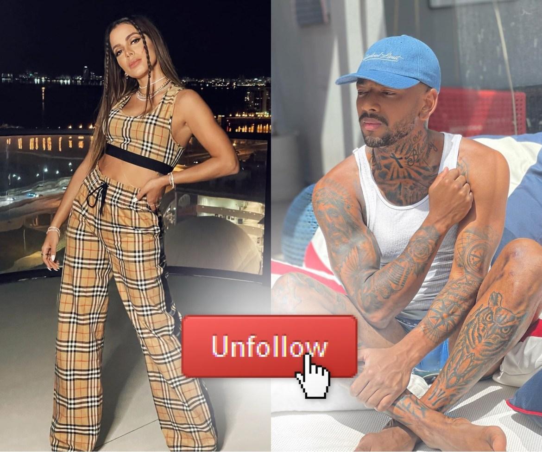 Anitta e Leno Maycon Vianna dão unfollow em redes sociais.