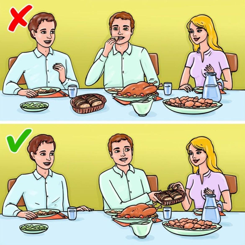 Não seja o primeiro a pegar um pedaço, quando a cesta de pães chegar à mesa, imagem ilustrativa.