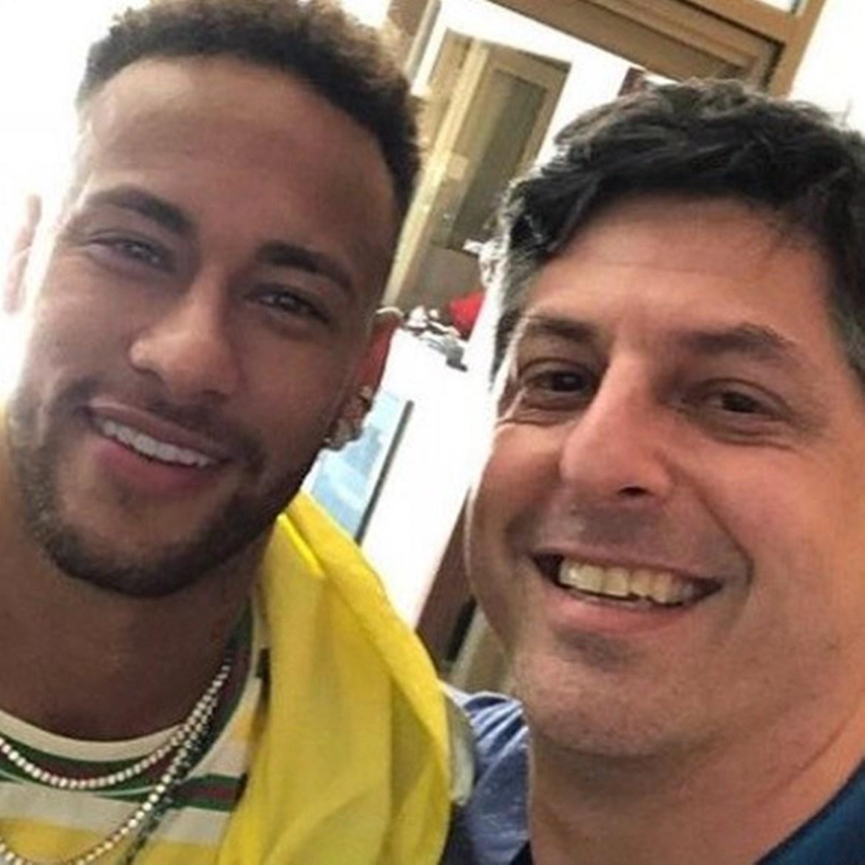 Neymar e Leonardo Baran.