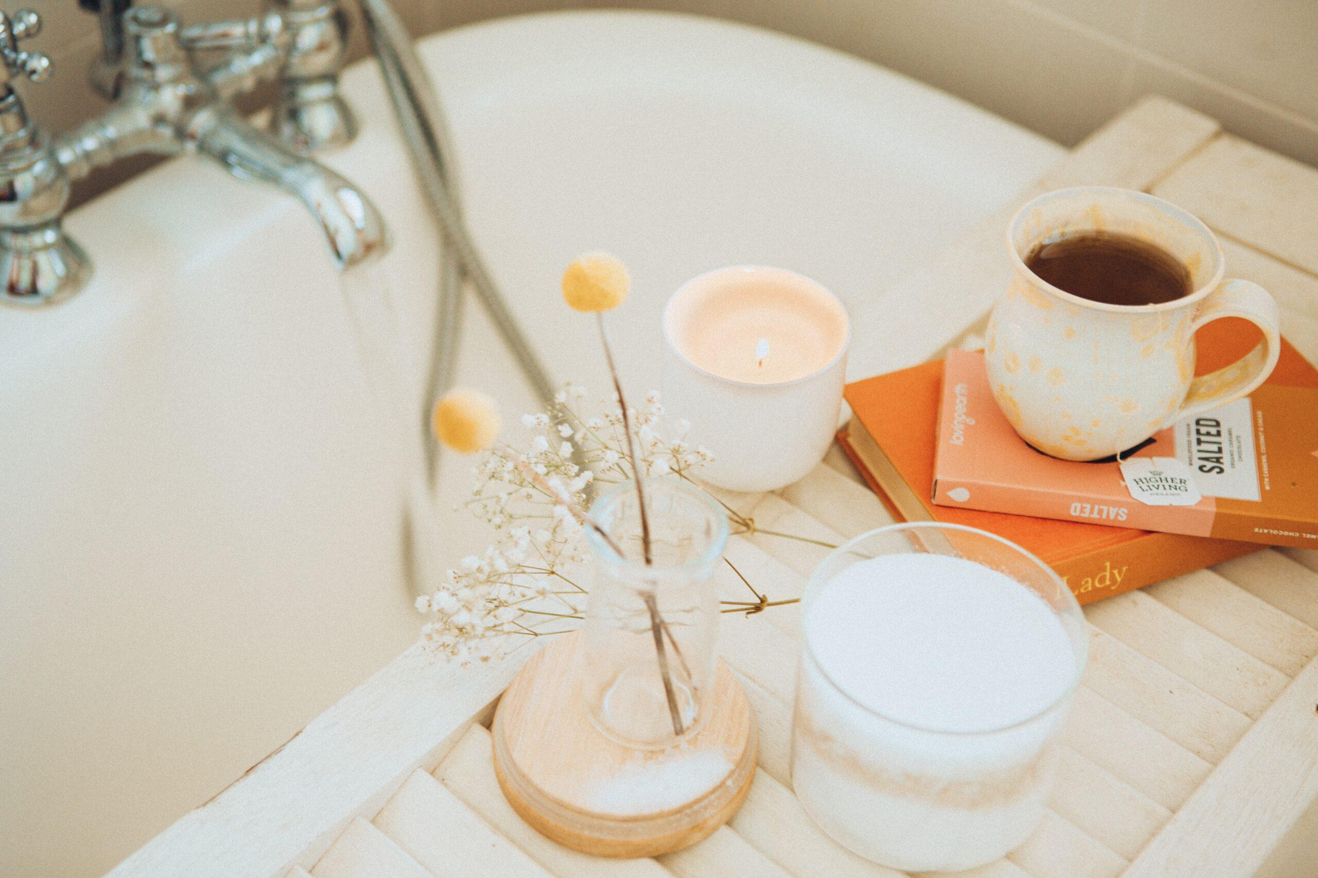 Banheira para ritual de banho da lua cheia
