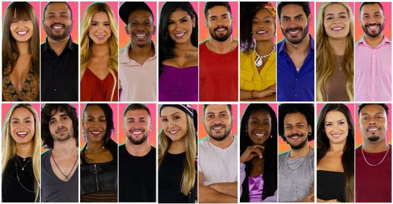 Participantes do Big Brother Brasil 2021.