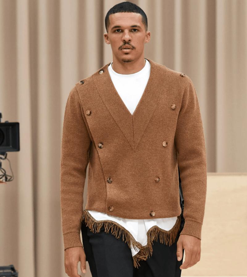 Blusa tricô da Burberry marrom