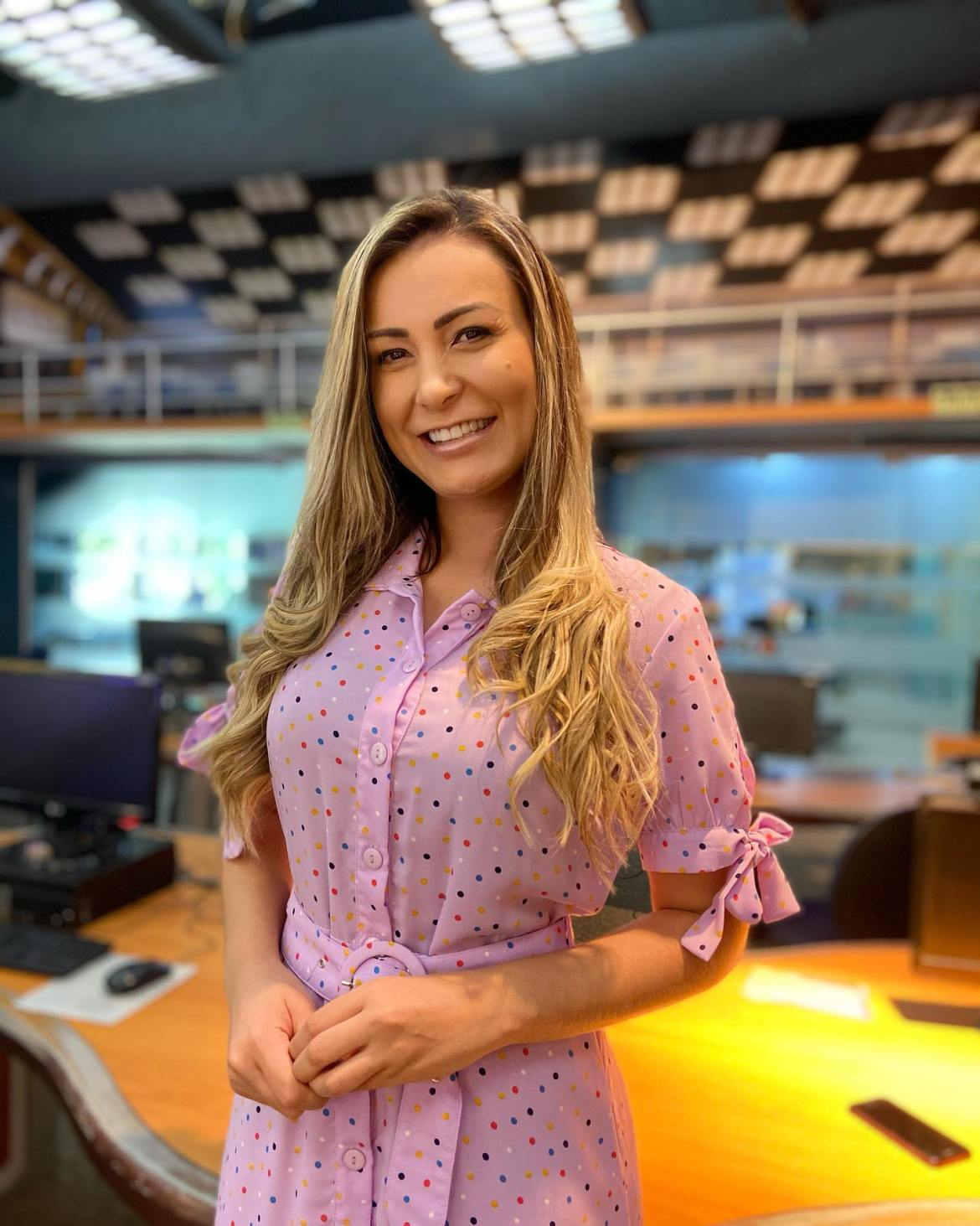 Andressa Urach na Record TV.