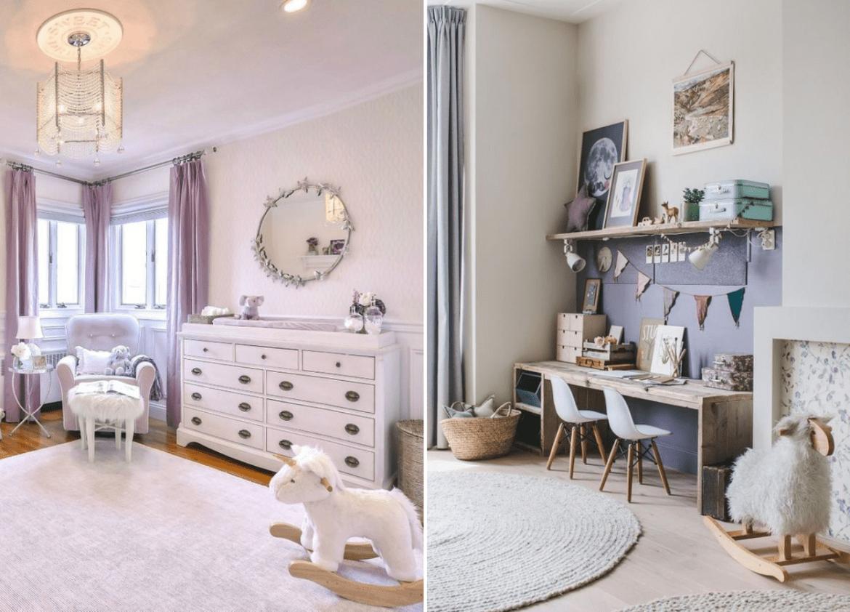 Cores na decoração: lilás no quarto de bebê