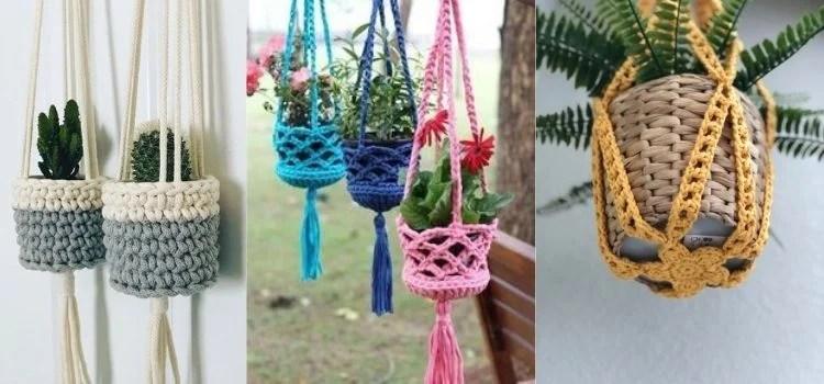 plant hangers de crochê