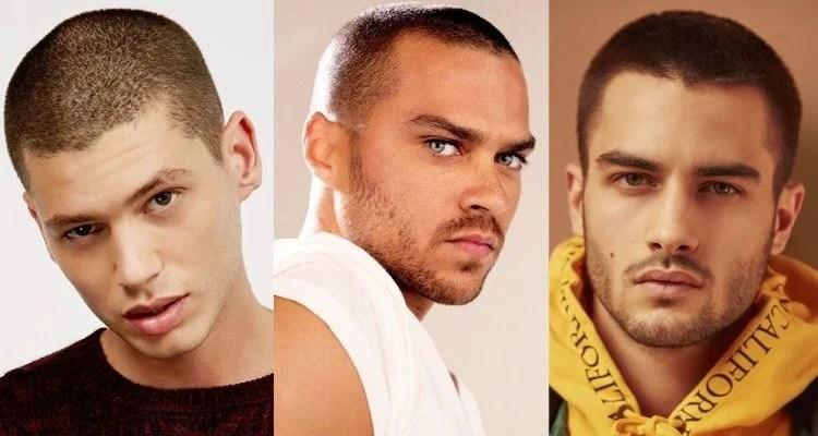 três homens com cabelo buzz cut