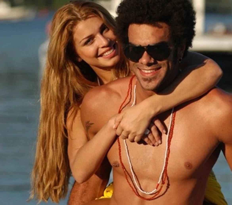 Ex-namorado da atriz Massafera e ela.
