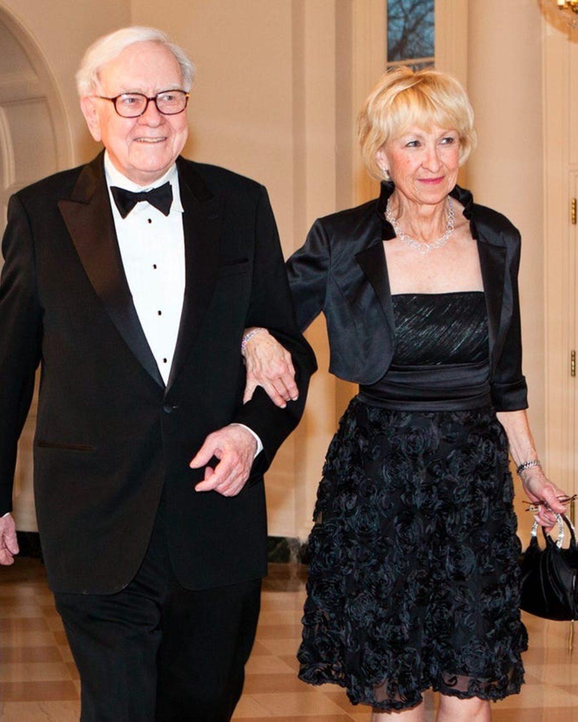 Esposas de bilionários - Astrid Menks e Warren Buffett.