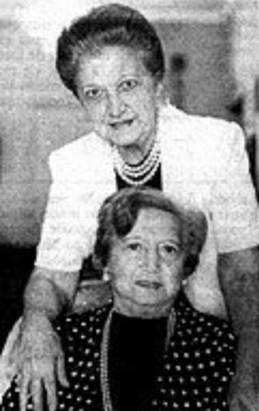 Mena Fiala e Cândida Gluzman, em 1985.