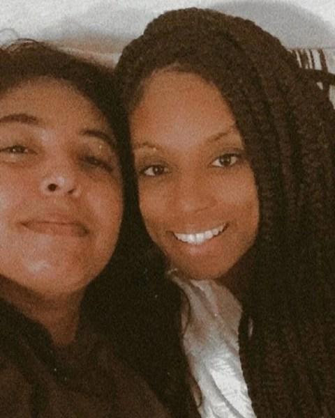 Lumena, do BBB21, e a namorada Fernanda Maia - Reprodução