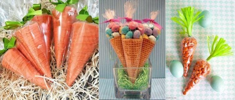 lembrancinhas de Páscoa em formato de cenoura