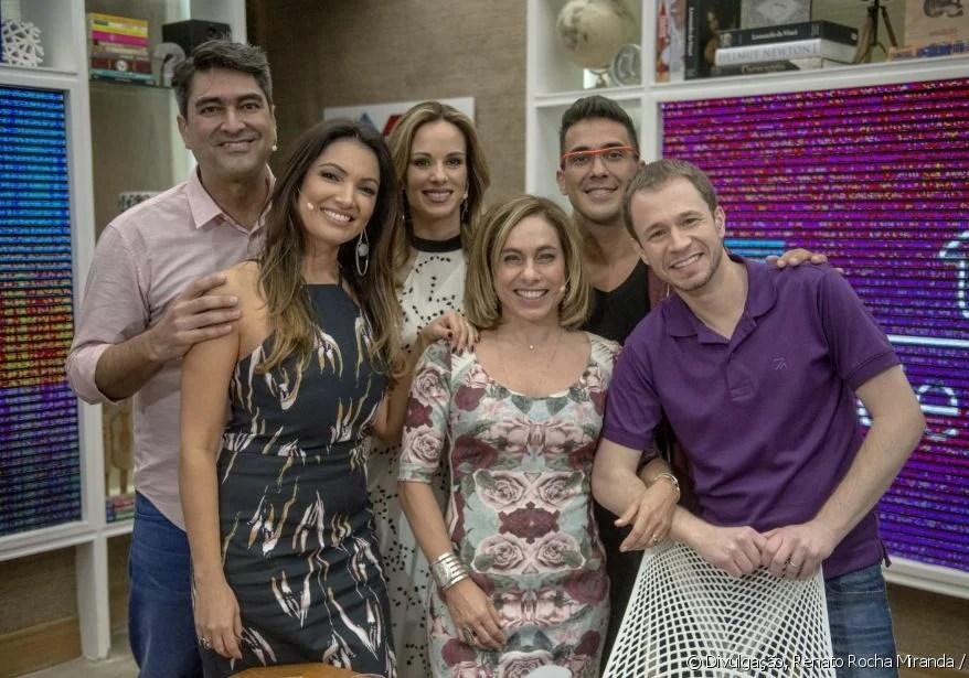 Na época em que apresentava o É De Casa junto aos demais apresentadores - Globo