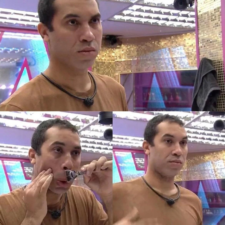 Gil do Vigor tira barba.