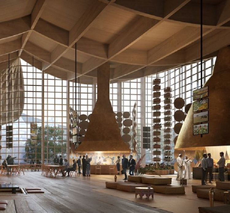 interior da La Biennale Architettura