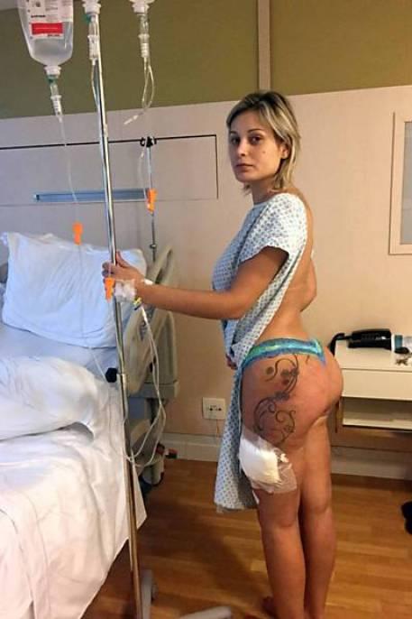 Andressa Urach no hospital- Reprodução