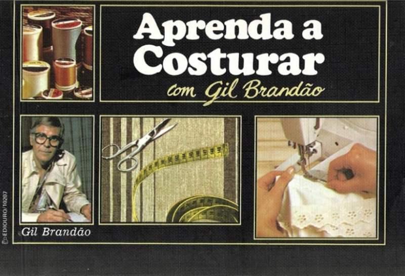 """Capa do livro """"Aprenda a Costurar"""" de Gil brandão, de 1981."""