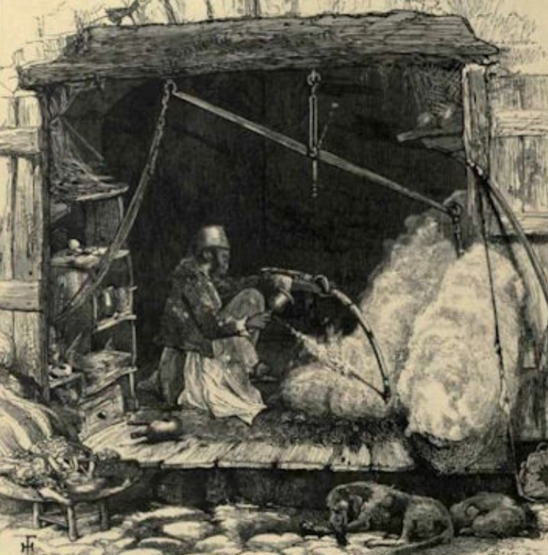 Vendedor de algodão judeu.