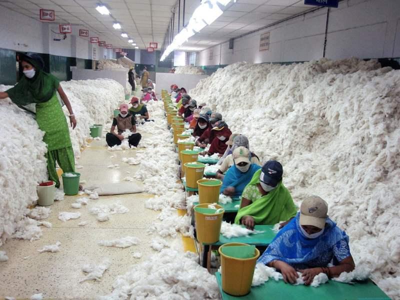 Trabalhadores limpando manualmente o aldoão na Índia, 2010.