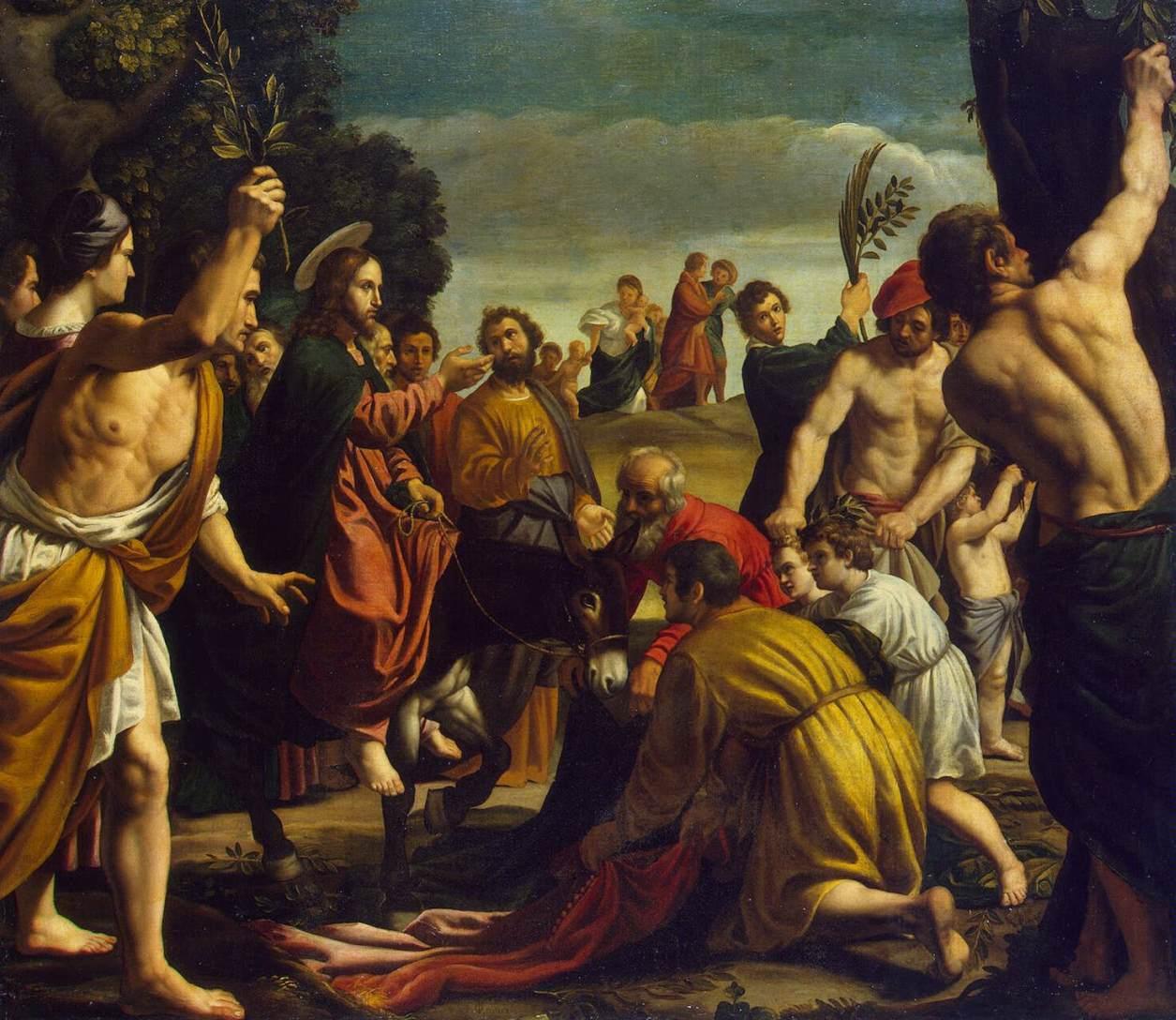 Entrada de Jesus em Jerusalém de Pedro Orrente, c. 1620.