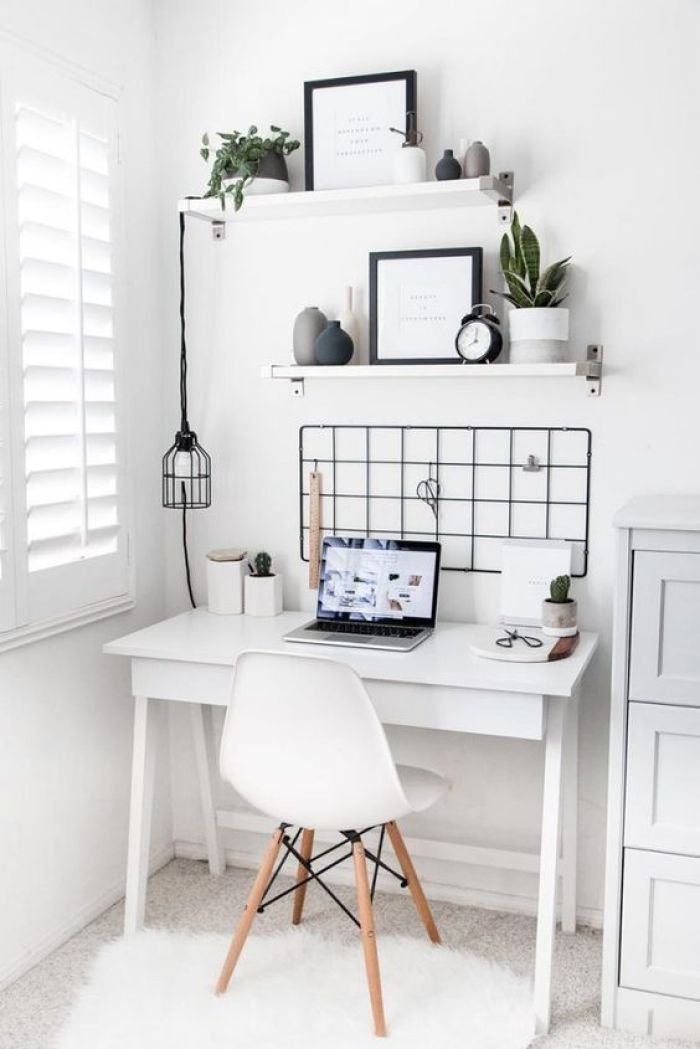 Home office branco.