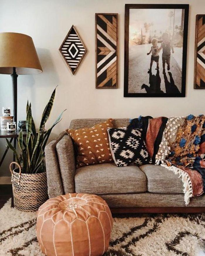Decoração de outono na sala.