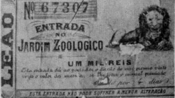 entrada antiga para o zoologico jogo do bicho