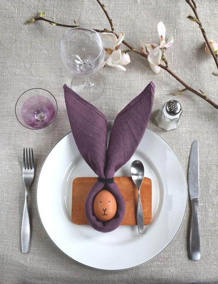 Ovo de galinha como decoração.