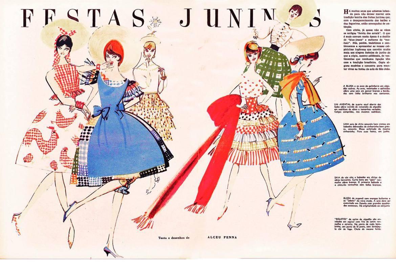 """""""As Garotas"""" em uma Festa Junina."""
