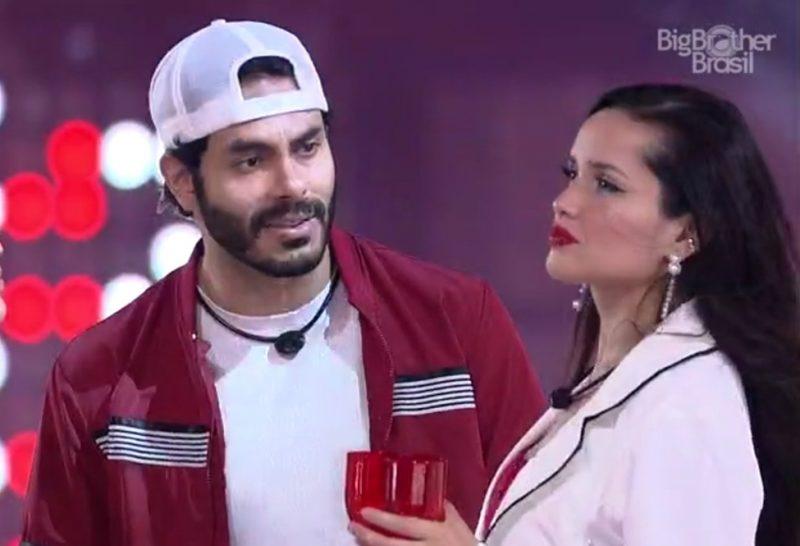 Rodolffo e Juliette durante a festa do líder - Globo