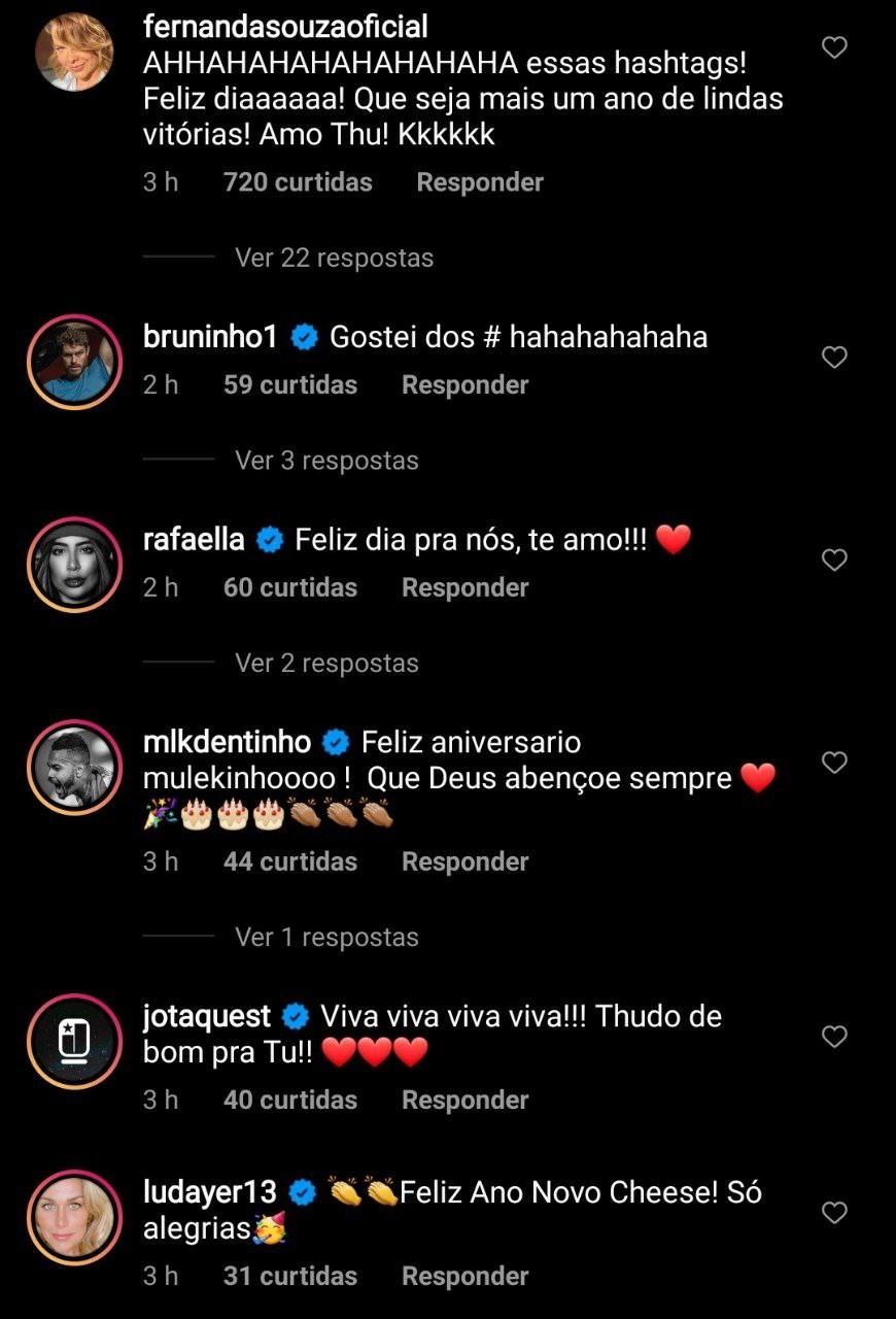Fernanda Souza se declara para Thiaguinho - Reprodução