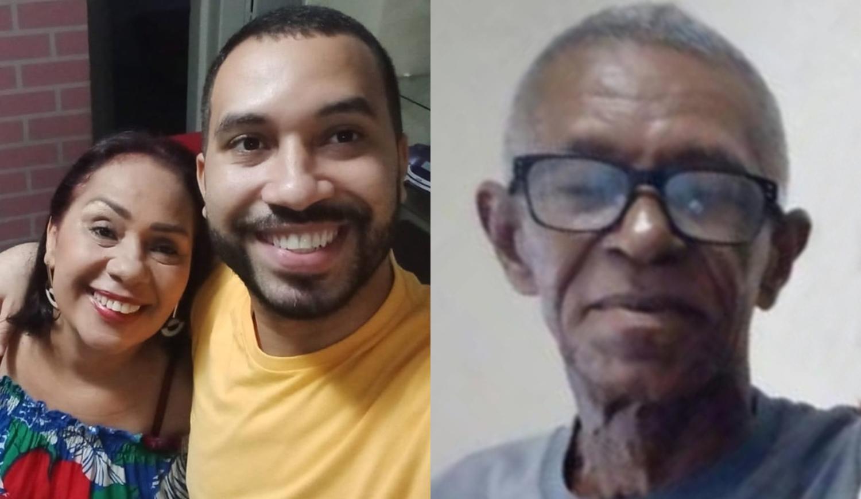 Gilberto, do BBB 21, seu pai e sua mãe.