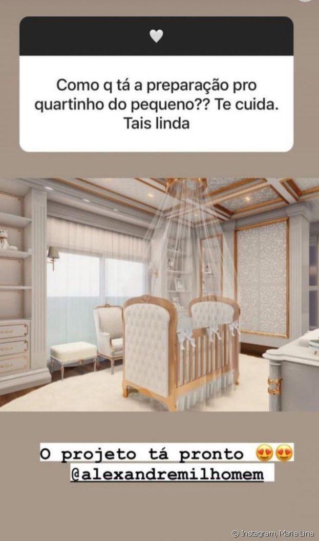 Projeto do quarto do filho de Whindersson Nunes e noiva - Reprodução