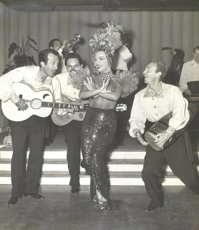 """Carmen Miranda em """"Morrendo de Medo"""", em 1953."""