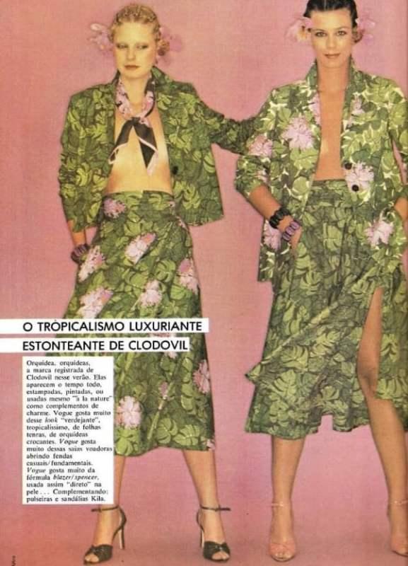 Clodovil Hernandes na Vogue Brasil 1978.