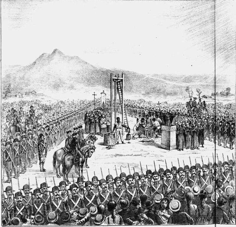 Execução de Tiradentes, no dia 21 de abril de 1792, Revista Illustrada, n. 643, 1892.