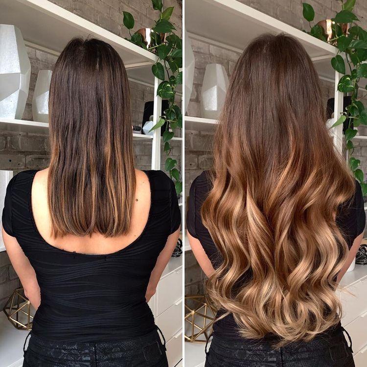 aplique de cabelo queratina