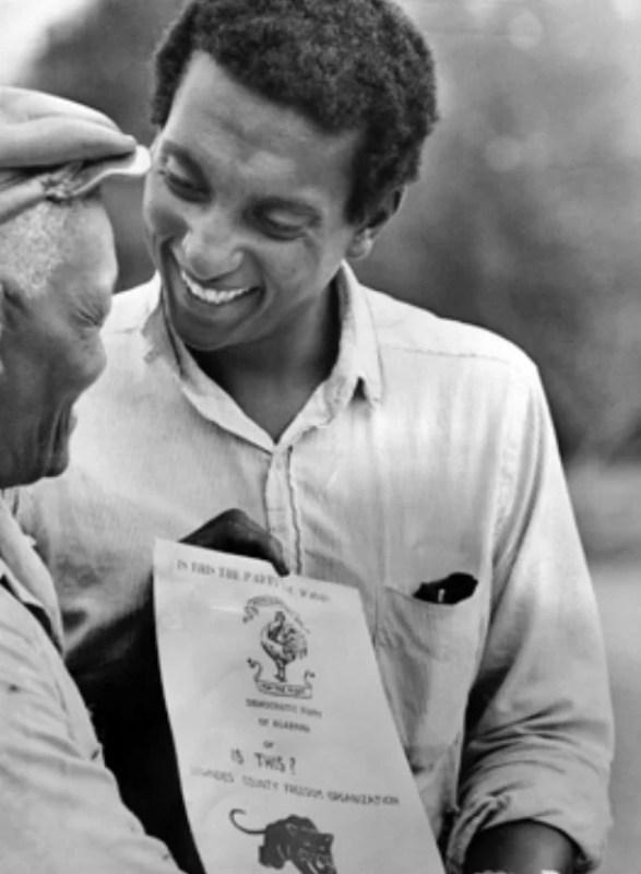 Stokely Carmichael à direita, em 1966.