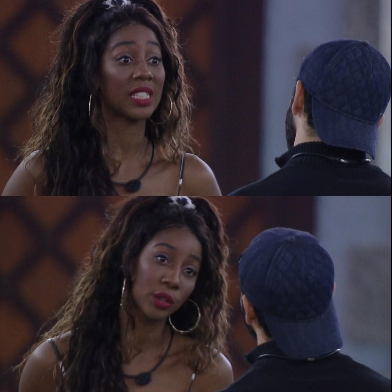 Camilla e Rodolffo conversam.