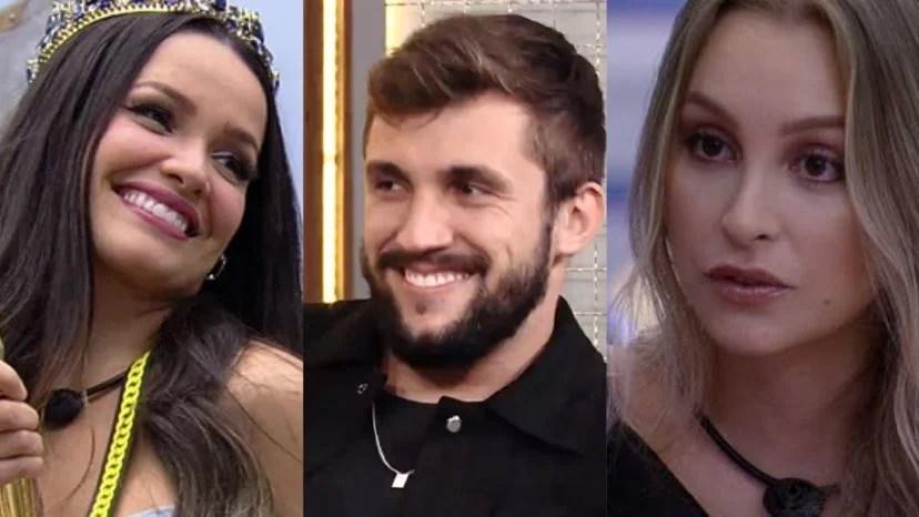 Arthur conta que amou Carla Diaz de verdade, mas que ficaria com Juliette fora do BBB 21 (montagem: Fashion Bubbles)