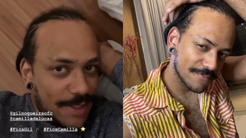 João, do BBB 21, troca o black power por trancinhas (montagem: Fashion Bubbles)