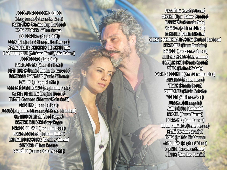 """Lista de personagens da trama """"Império""""."""