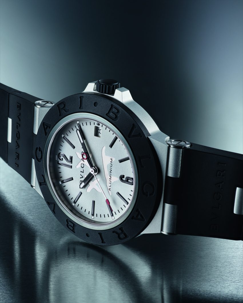 Relógio Bvlgaria de lado.