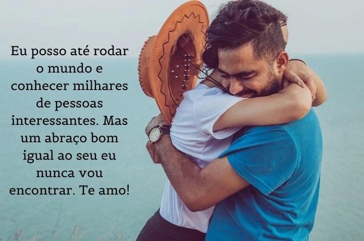 mensagem de abraço