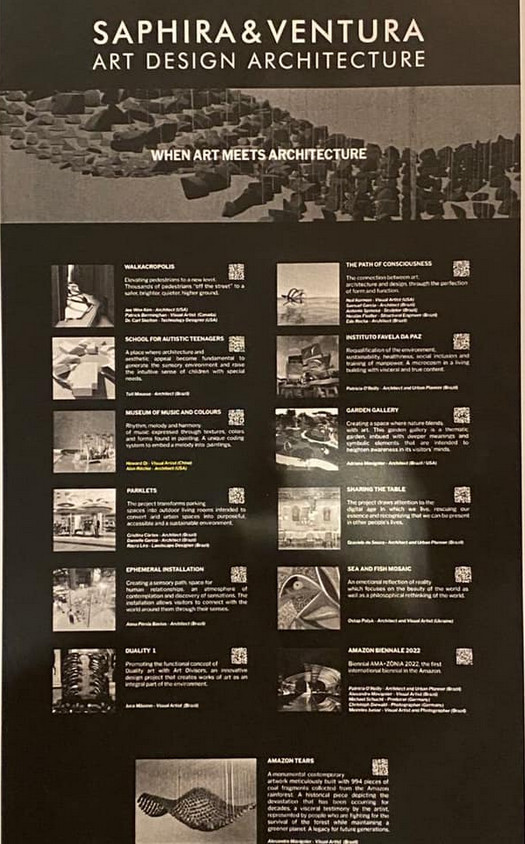 Programa com artistas participantes da mostra da Saphira & Ventura Art Design e Architecture