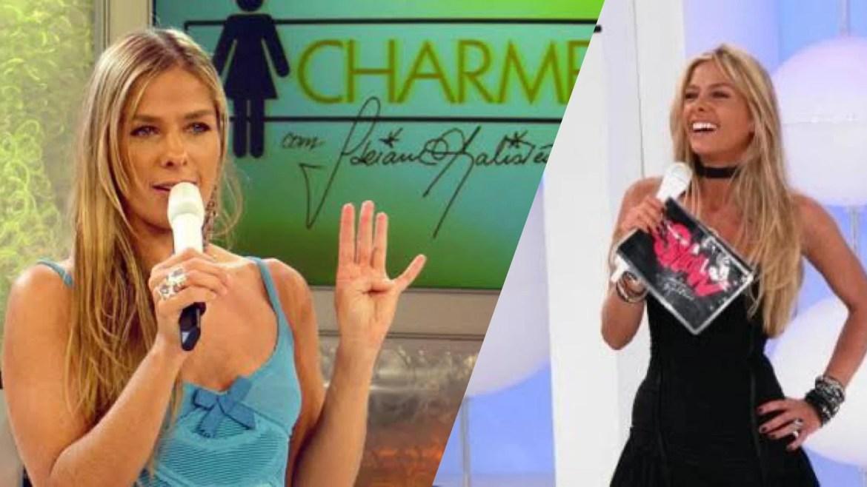 Adriane Galisteu também apresentou o É Show na Record TV e o Charme no SBT (montagem: Fashion Bubbles)