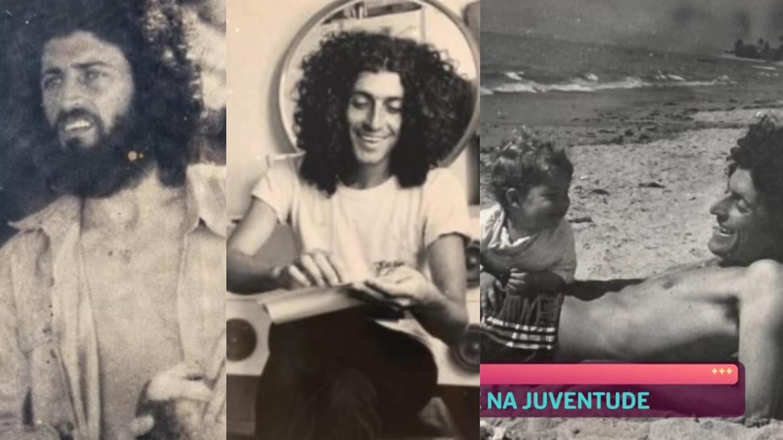 Ana Maria mostra fotos de Caco Barcellos em fase hippie (montagem: Fashion Bubbles/ reprodução Globo)