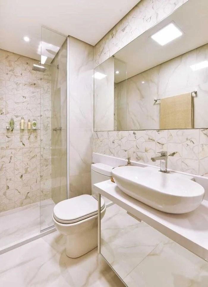 Revestimento para banheiro.