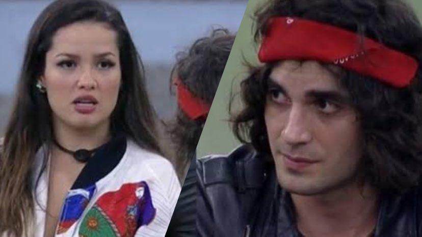 Fiuk diz para Juliette que não acreditava na sister no começo do BBB 21 (montagem: Fashion Bubbles)